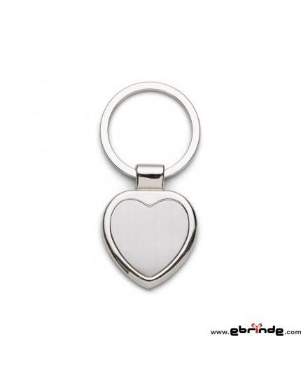 Chaveiro Personalizado Metal Coração